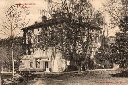 le chateau et sa veranda en 1908